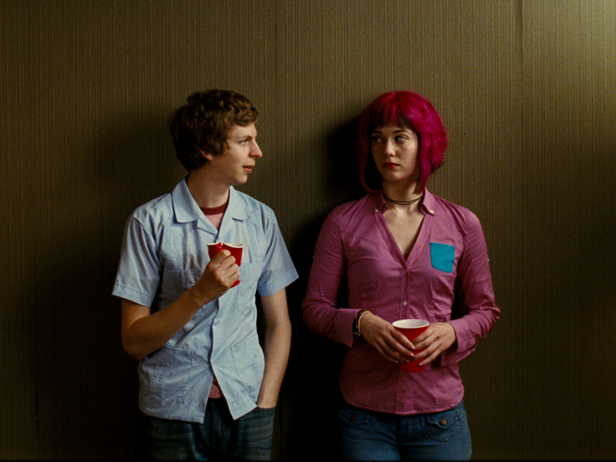 Michael Cera and Mary Elizabeth Winstead in Scott Pilgrim vs. the World