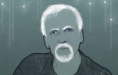 James Cameron illustration by Sophie Mo