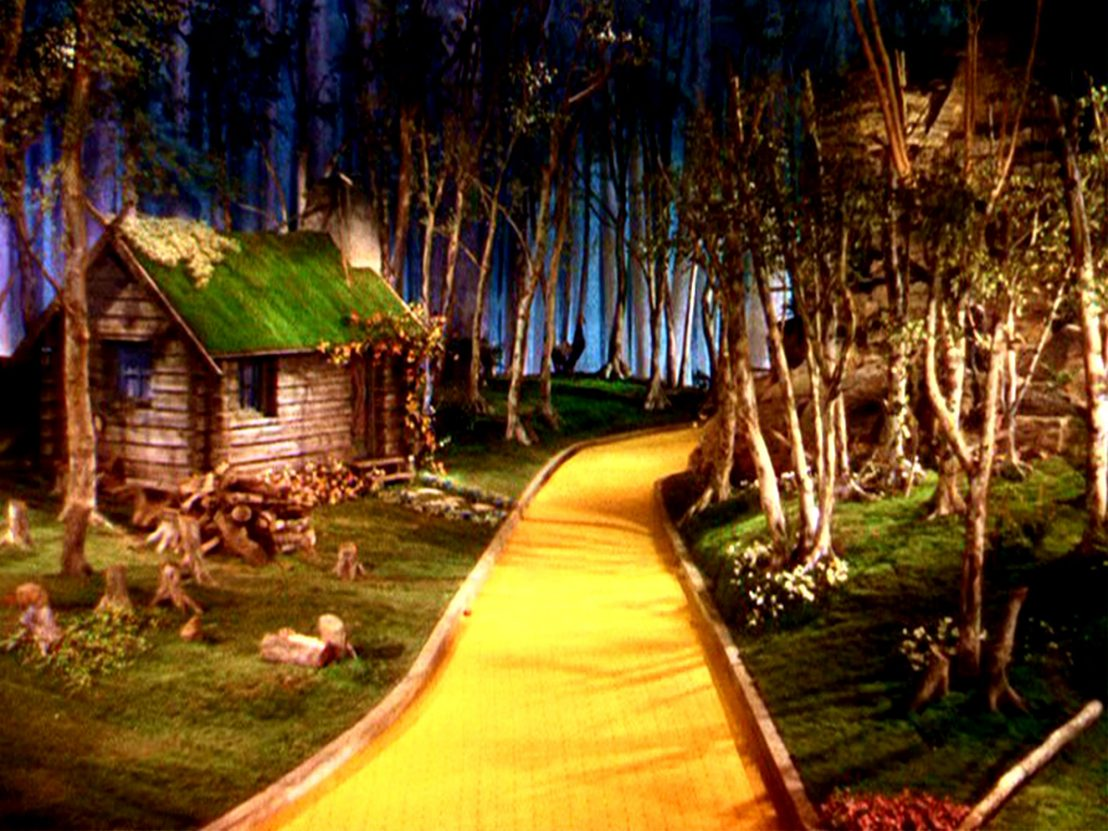 Wizard of oz background hanging