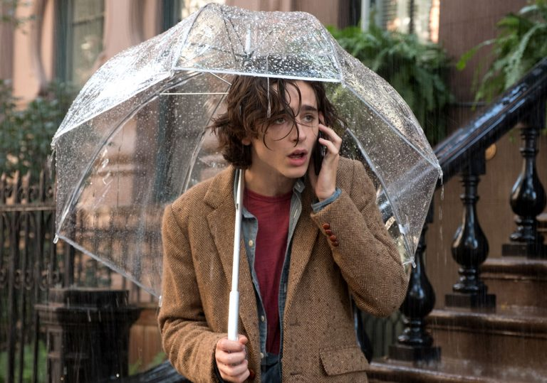 A Rainy Day in New York review – A wonderful central trio of performances