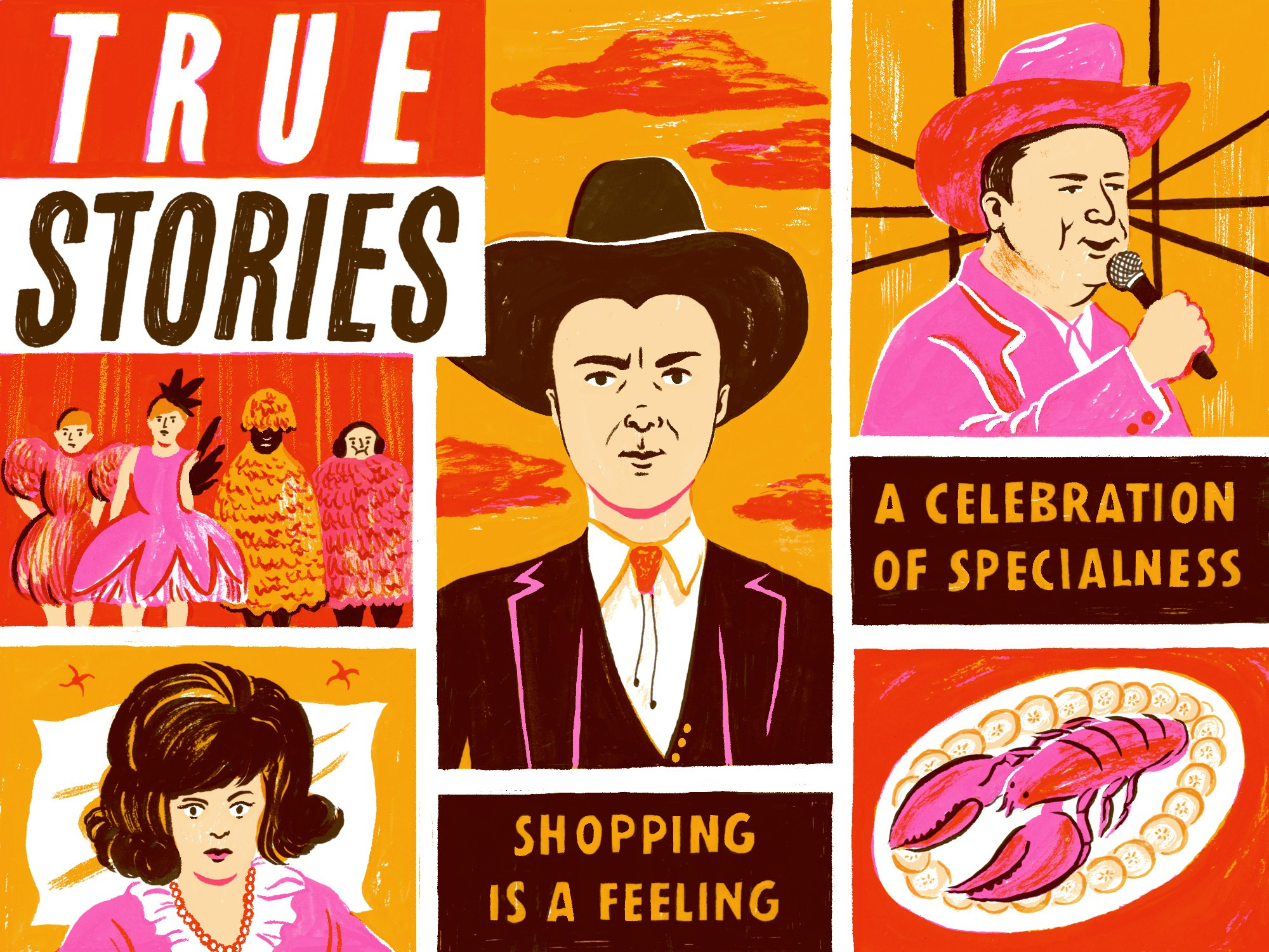 True Stories illustration by Hayley Wells