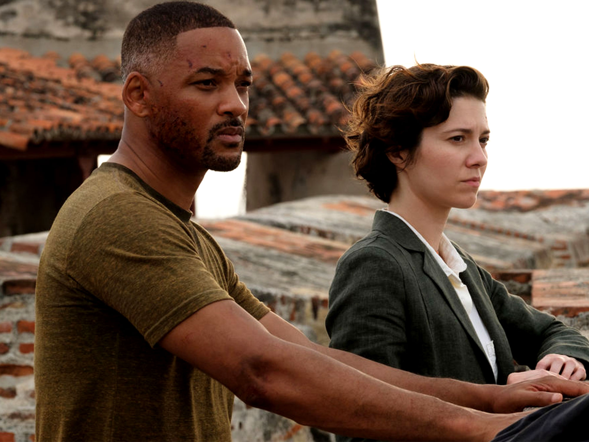 Will Smith and Mary Elizabeth Winstead in Gemini Man (2019)