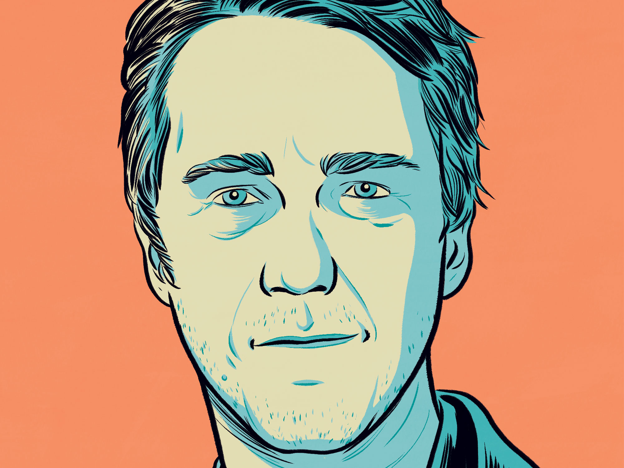 Edward Norton illustrated portrait