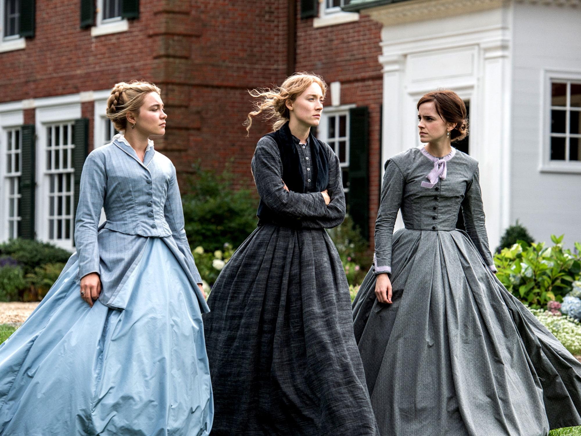 Saorise Ronan, Florence Pugh and Emma Watson in Little Women (2019)