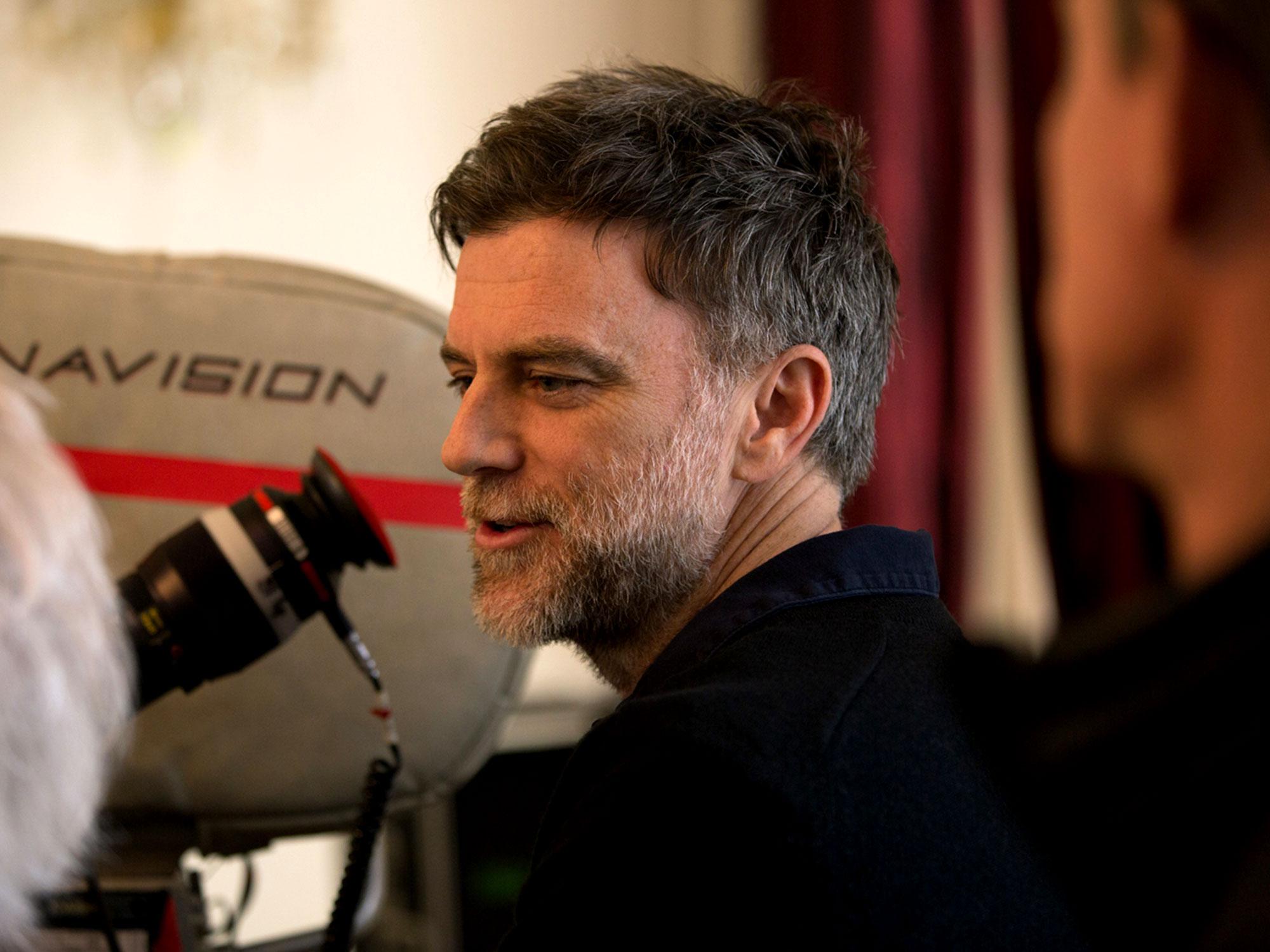 Paul Thomas Anderson on the set of Phantom Thread
