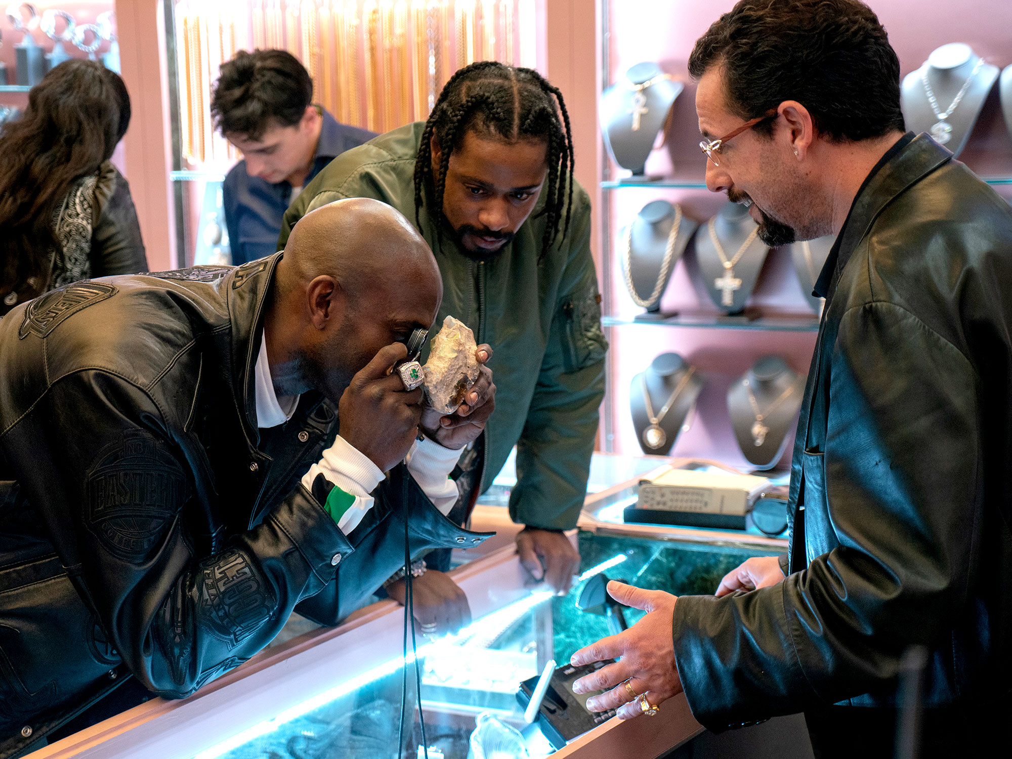 Adam Sandler and Lakeith Stanfield in Uncut Gems (2019)