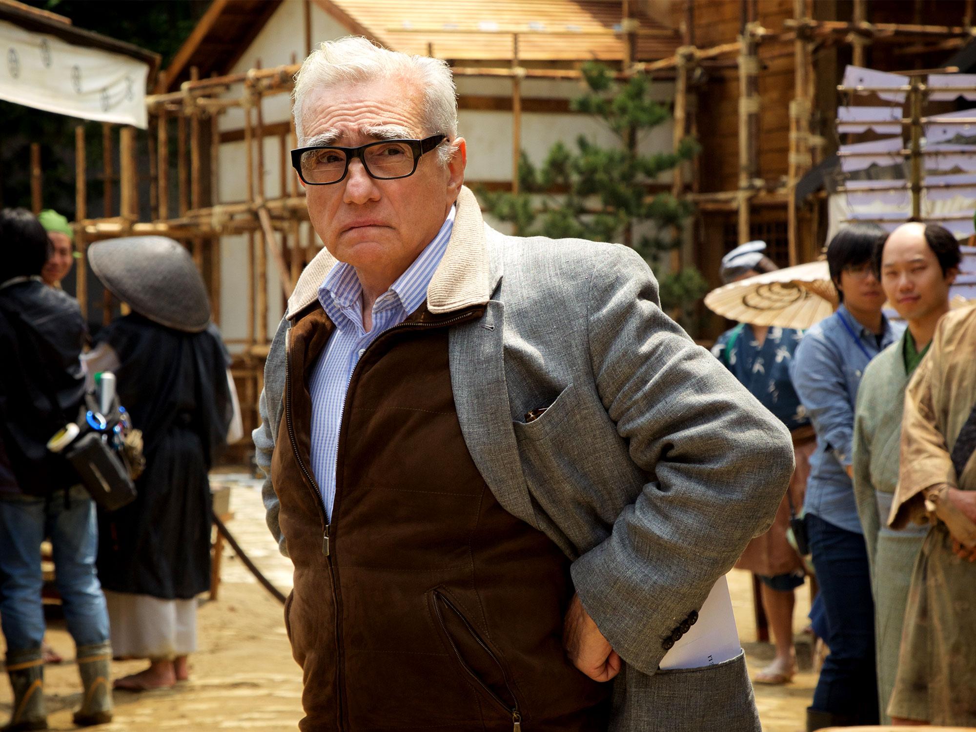 Martin Scorsese on the set of Silence
