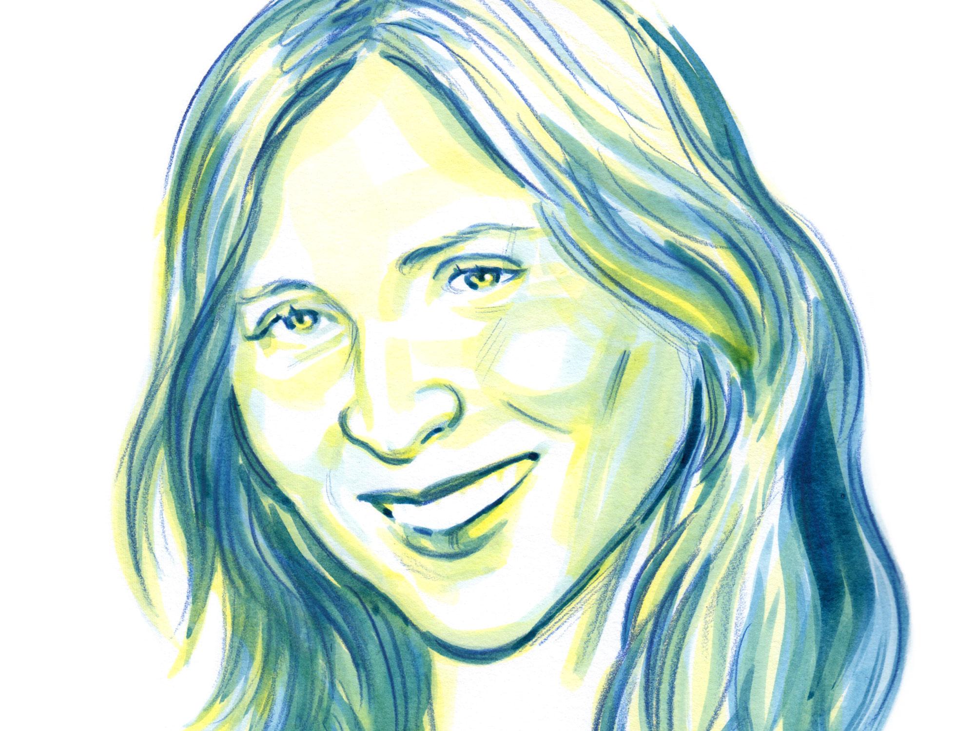 Jessica Hausner illustrated portrait