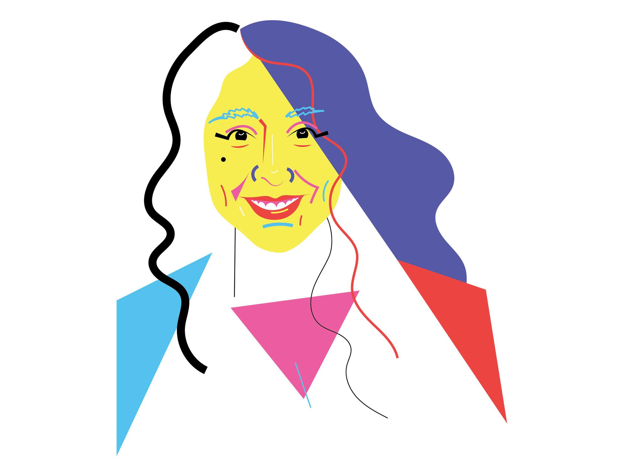 Haifaa Al Mansour illustrated portrait