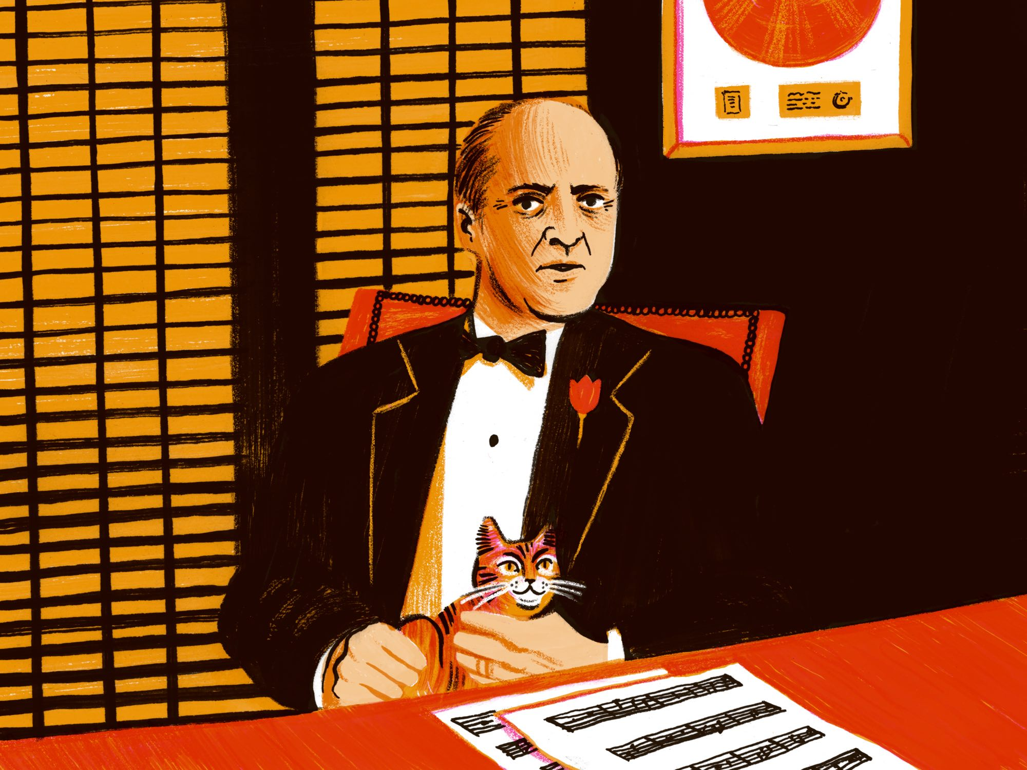 The Godfather illustration by Hayley Wells