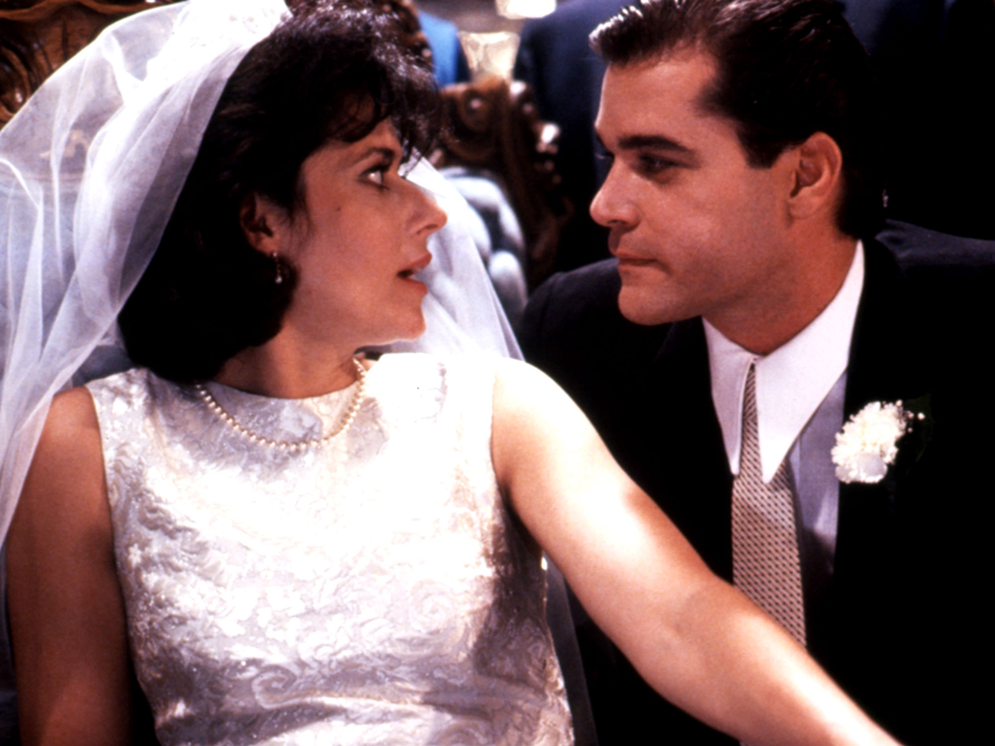 Ray Liotta and Lorraine Bracco in Goodfellas (1990)