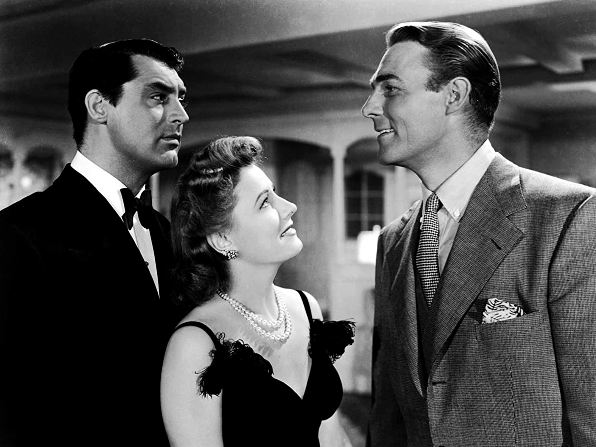 Irene Dunne, Cary Grant and Randolph Scott in My Favorite Wife (1940)