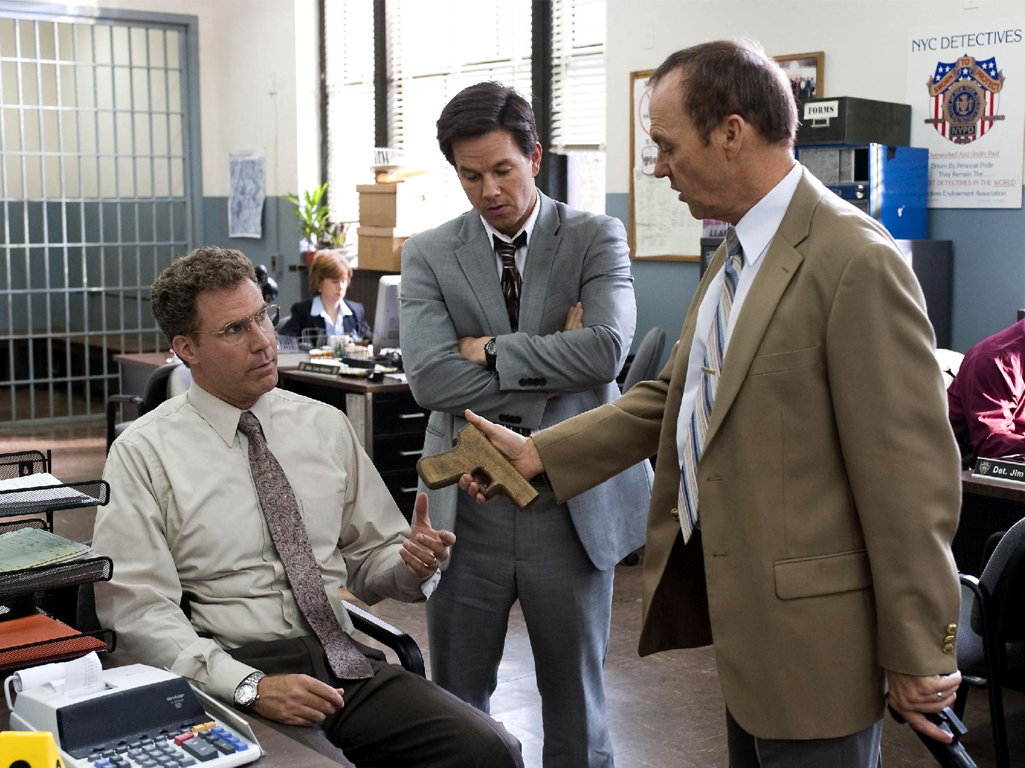Will Ferrell, Mark Wahlberg and Michael Keaton in The Other Guys (2010)