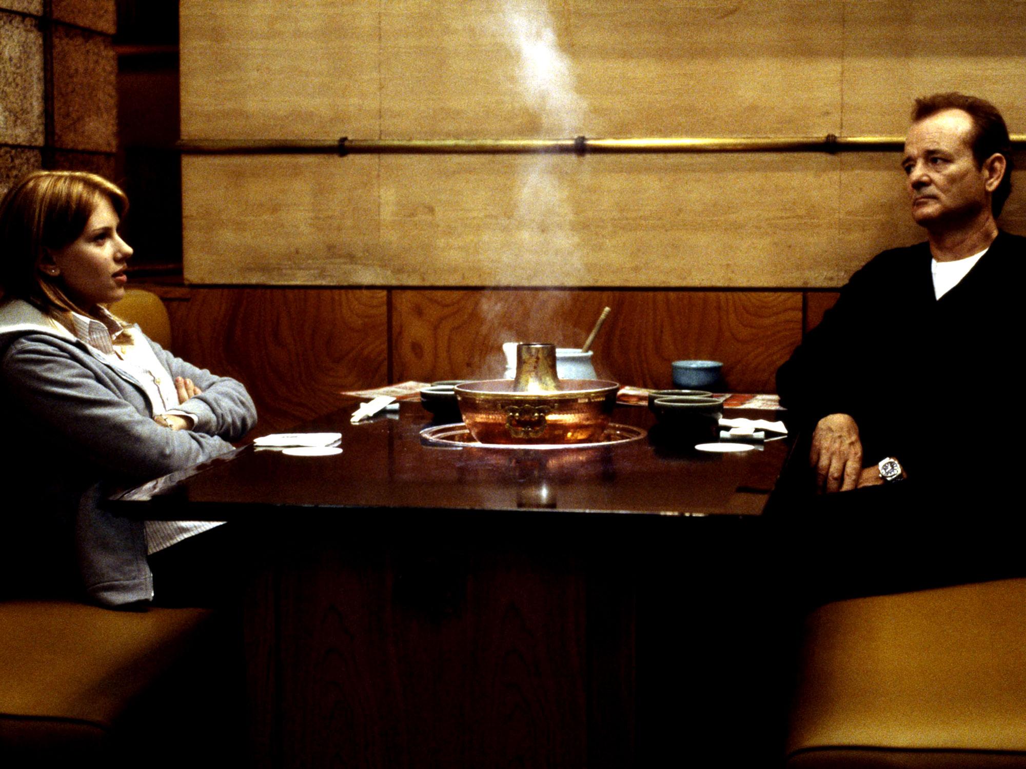 Scarlett Johansson and Bill Murray in Lost in Translation (2003)
