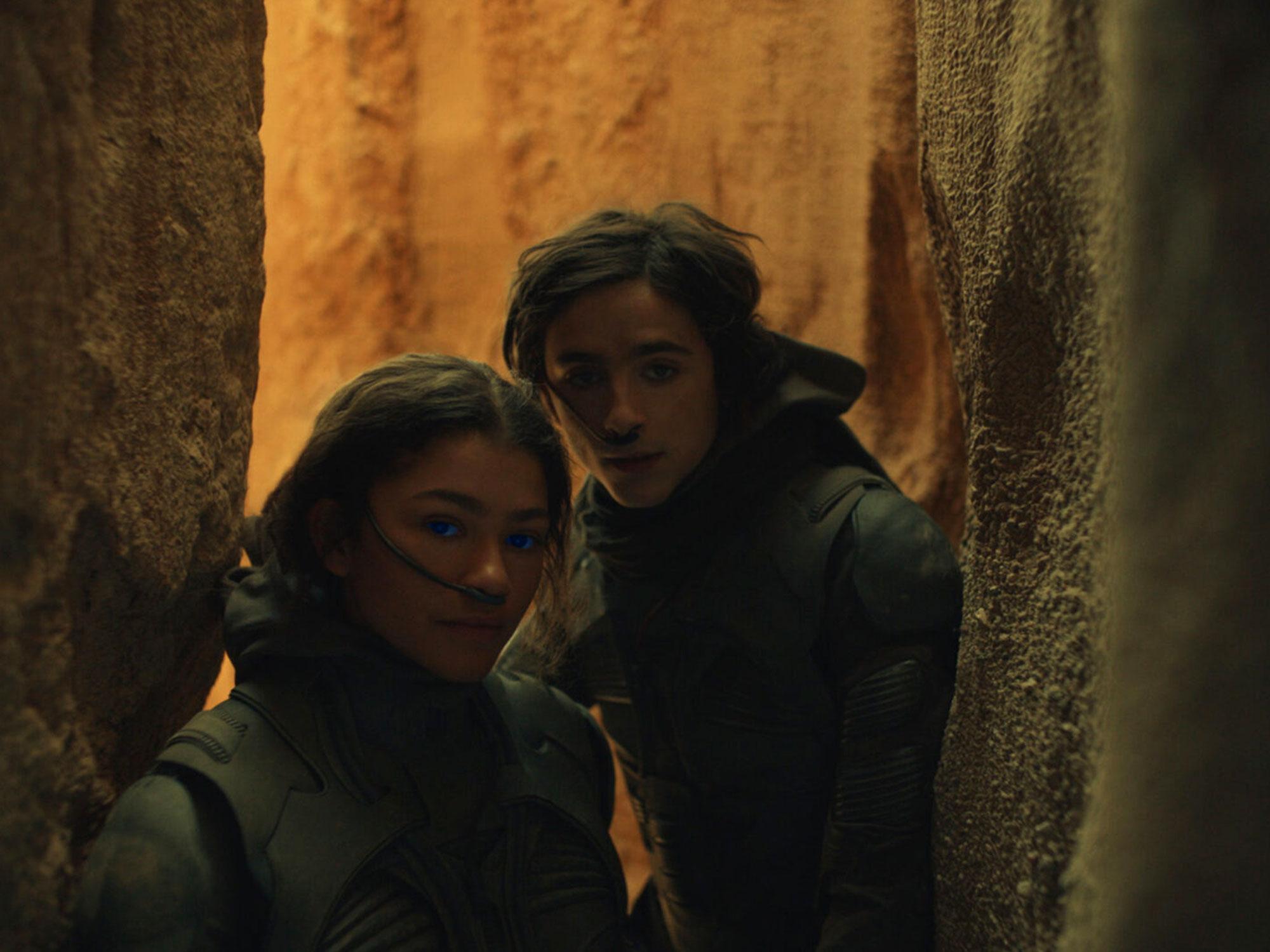 Timothée Chalamet and Zendaya in Dune (2020)