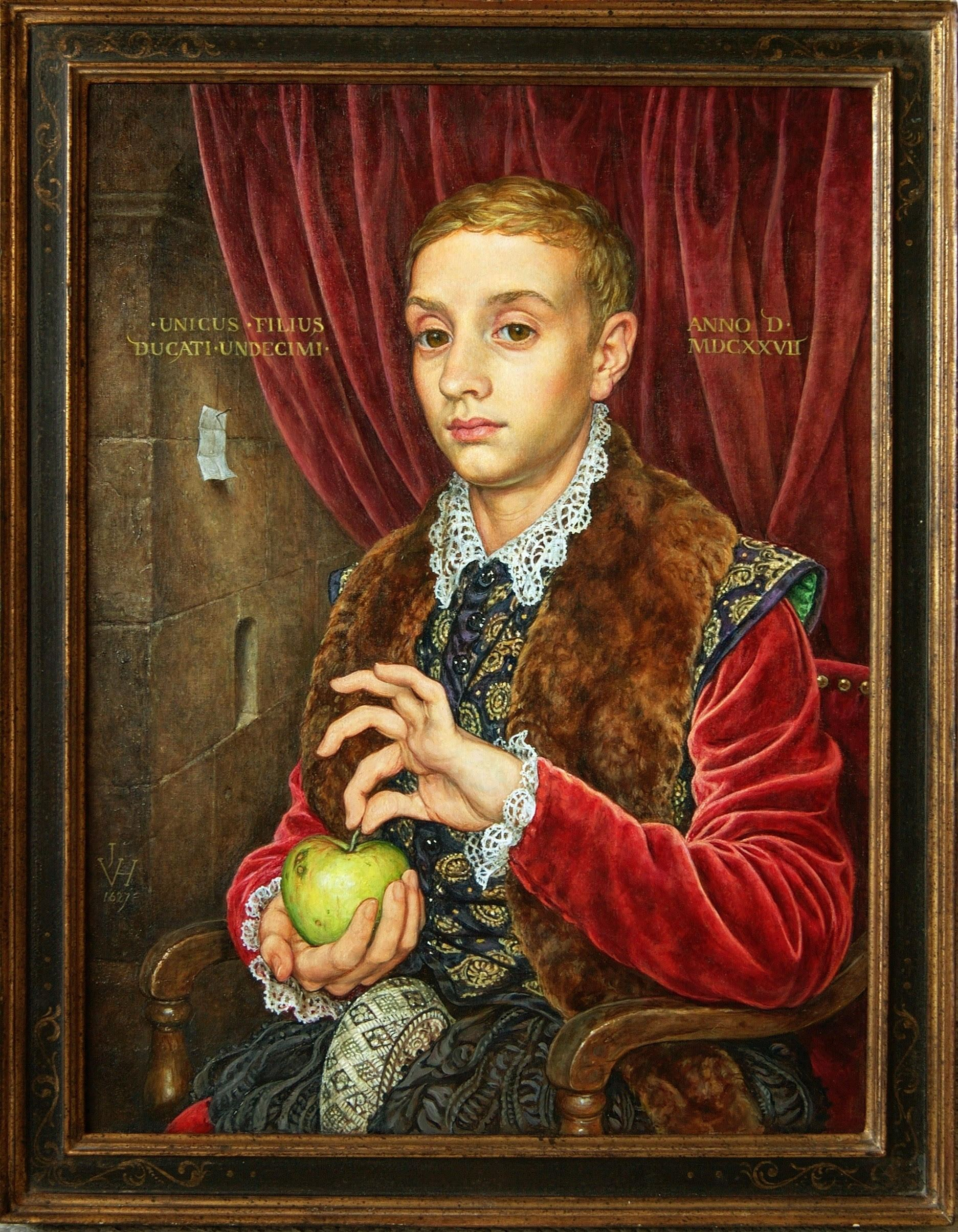 Boy With Apple painting from Wes Anderson's The Grand Budapest Hotel
